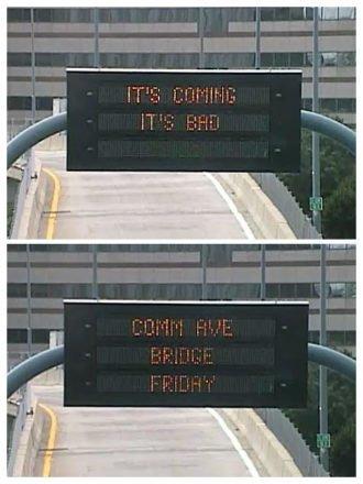 MassDOT's Comm. Ave. Bridge warning: 'It's coming. It's bad.'