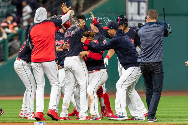 Allen Plays Hero as Tribe Walks Off Against Boston Again; Indians 4, Red Sox 3