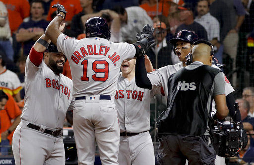 Bradley's grand slam helps Red Sox beat Astros