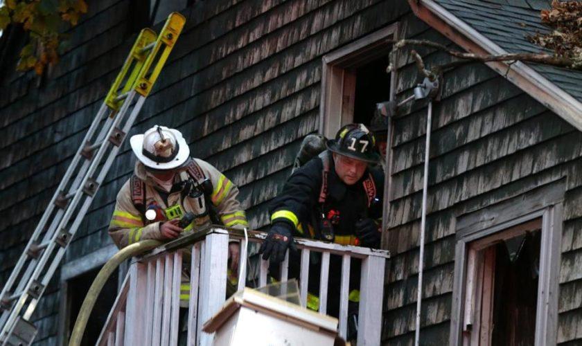Two-alarm fire damages Dorchester building