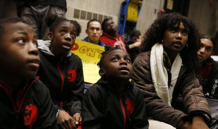 BPS students stage walkout to protest school closures, gun homicides