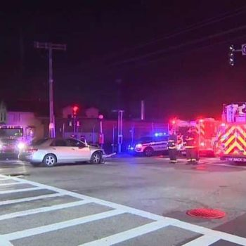 Police investigating 4-car crash in Boston