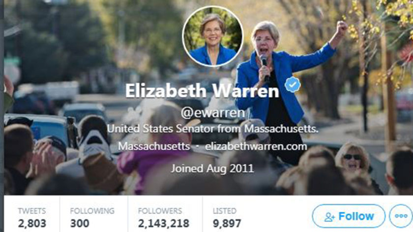 Elizabeth Warren's Twitter Handle Change Sparks 2020 Speculation