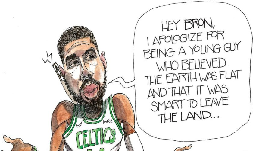 Boston's Kyrie Irving apologizes to Los Angeles's LeBron James: Crowquill