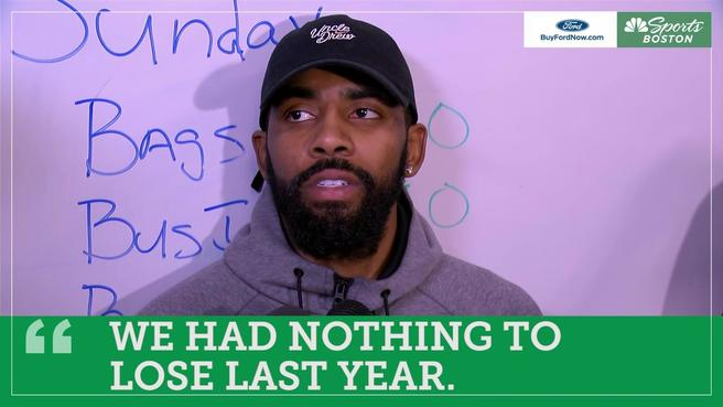Kyrie Irving: Celtics 'can't be comfortable being' fifth seed