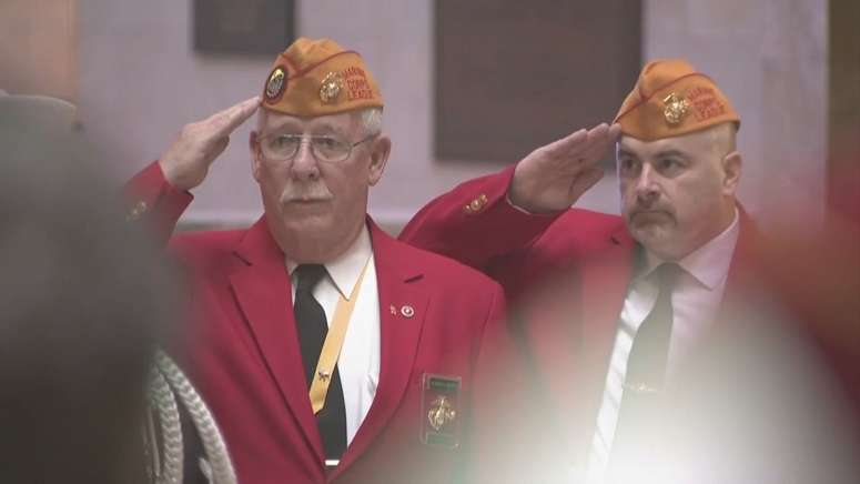 Boston honors veterans with Iwo Jima Day service at State House