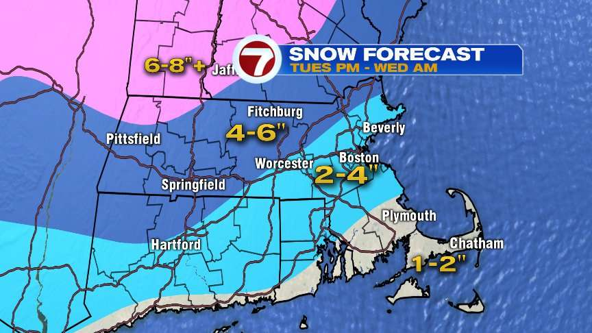 Snow to Mix Tuesday