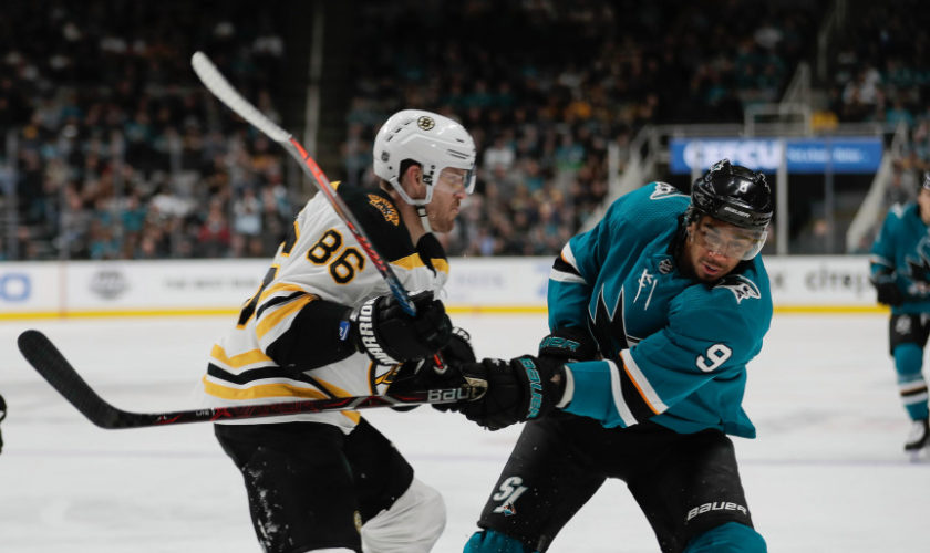 Bruins beat Sharks in overtime, spoiling Thornton's hat trick