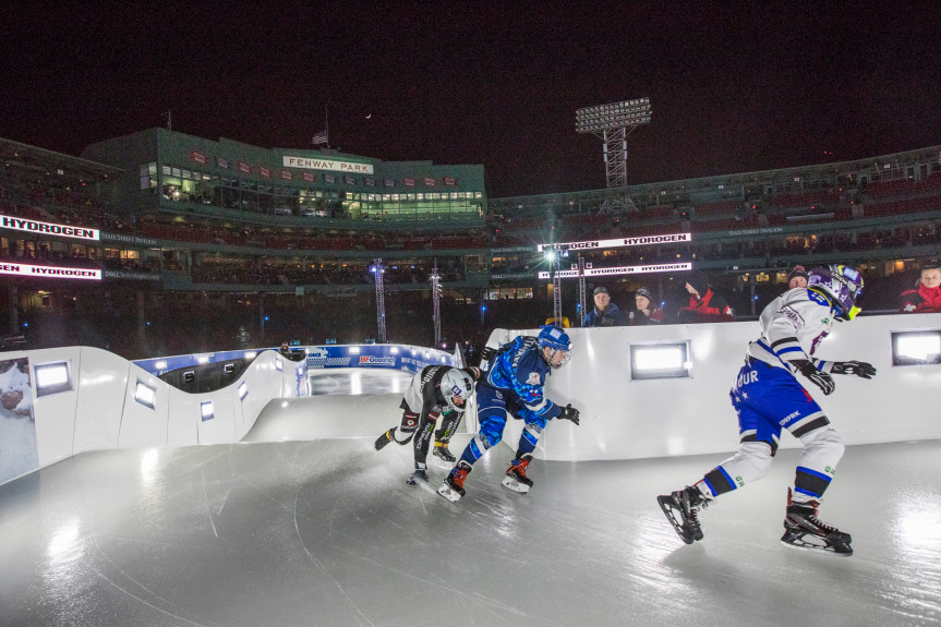 Red Bull Crashed Ice: Cameron Naasz, Amanda Trunzo winners at Fenway