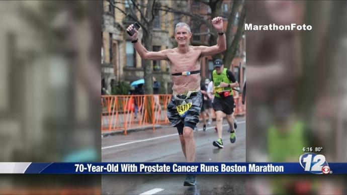 70-year-old man with cancer completes the Boston Marathon