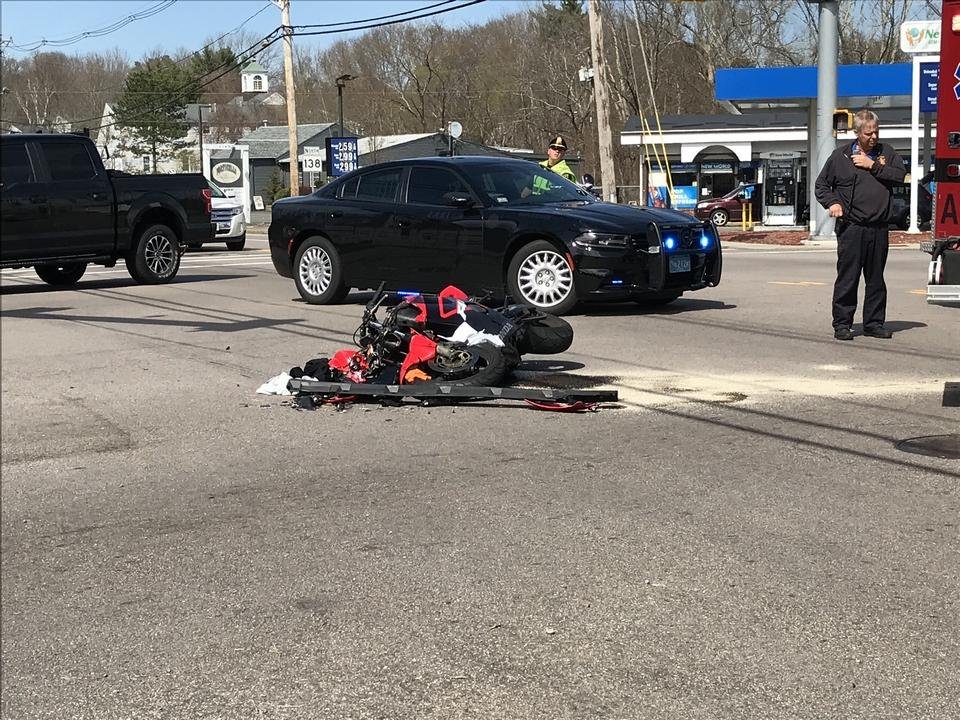 Man seriously injured in Easton motorcycle crash
