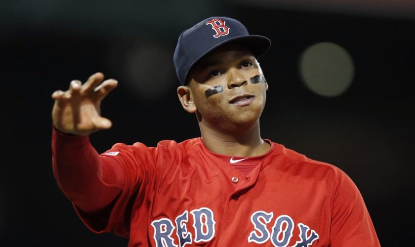 Boston Red Sox's Rafael Devers not eating at Chipotle as much anymore, makes time to call mom twice a day, loves fatherhood