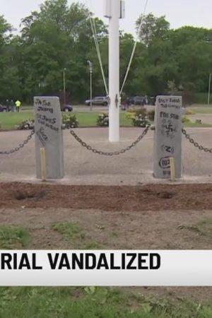 Boston PD investigate vandalized Vietnam veterans' memorial
