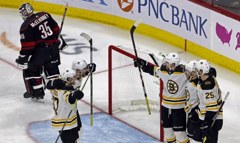 Bruins take 3-0 lead in Eastern Conference finals