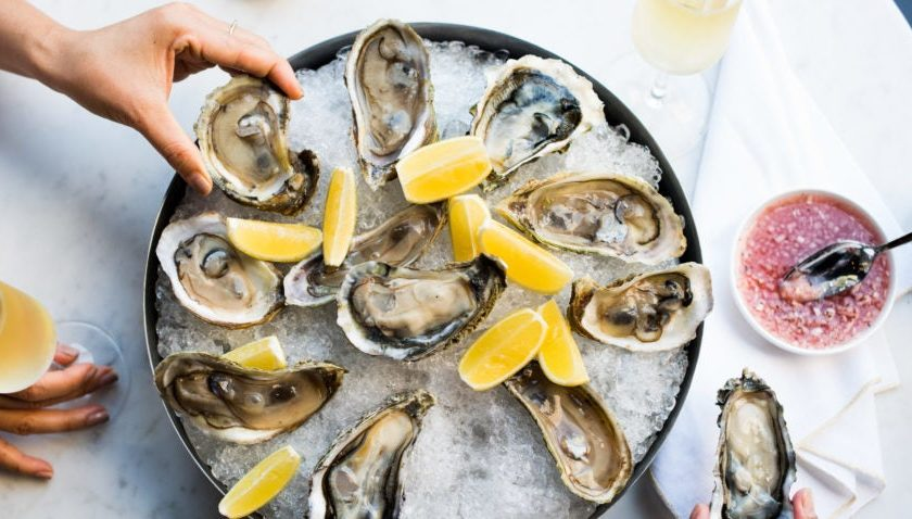 An outdoor dining option opens at the New England Aquarium this week with an iced shellfish bar and three types of charcuterie boards