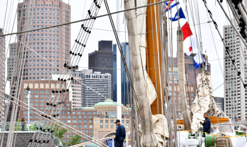"Colombian tall ship ""Arc Gloria"" calls port in Boston"