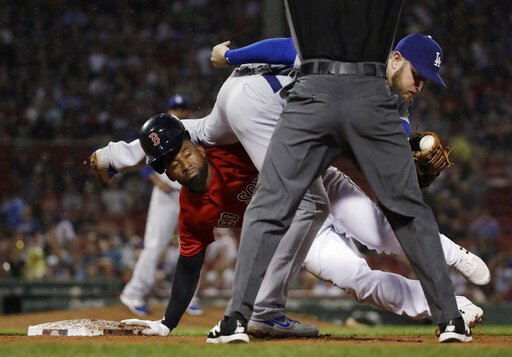 Red Sox hit 3 HRs, beat Dodgers 8-1 in World Series rematch