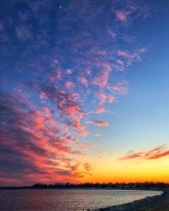 castle island boston sunset