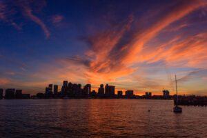 piers park sunset boston best